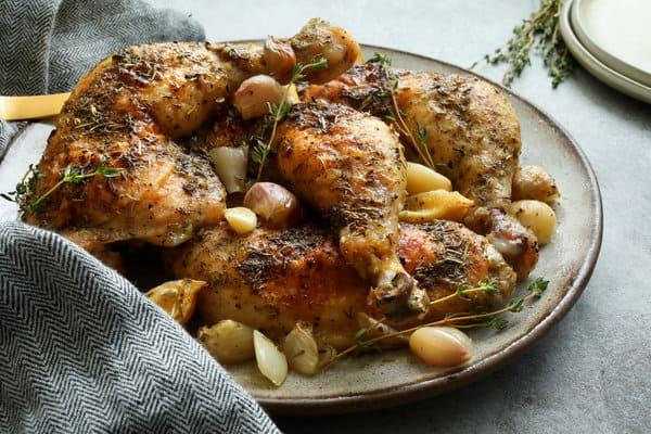 מתכון להכנת עוף צלוי בנוסח צרפתי